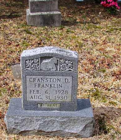 FRANKLIN, CRANSTON D. - Wayne County, Tennessee | CRANSTON D. FRANKLIN - Tennessee Gravestone Photos