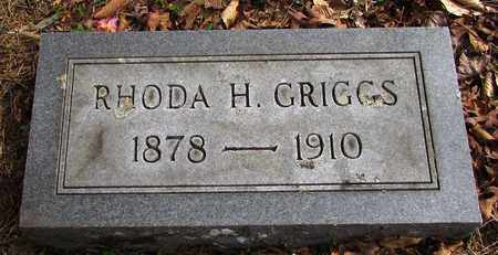 GRIGGS, RHODA H. - Wayne County, Tennessee   RHODA H. GRIGGS - Tennessee Gravestone Photos