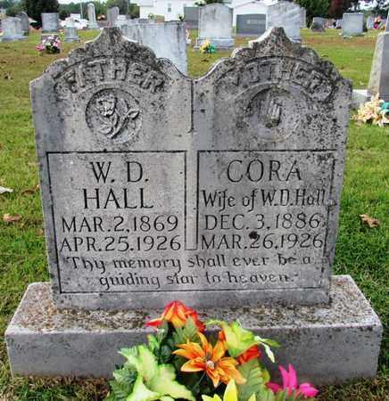 HALL, CORA - Wayne County, Tennessee   CORA HALL - Tennessee Gravestone Photos
