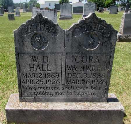 HALL, CORA - Wayne County, Tennessee | CORA HALL - Tennessee Gravestone Photos