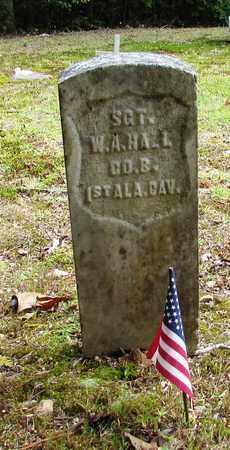 HALL (VETERAN UNION), W. A. - Wayne County, Tennessee   W. A. HALL (VETERAN UNION) - Tennessee Gravestone Photos