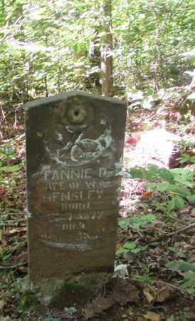 HENSLEY, FANNIE - Wayne County, Tennessee | FANNIE HENSLEY - Tennessee Gravestone Photos