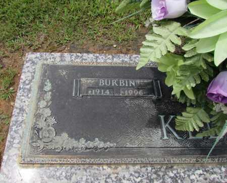 KELLY, BURBIN (CLOSE-UP) - Wayne County, Tennessee | BURBIN (CLOSE-UP) KELLY - Tennessee Gravestone Photos