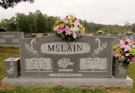 MCCLAIN, PAUL H. - Wayne County, Tennessee | PAUL H. MCCLAIN - Tennessee Gravestone Photos