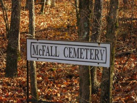*MCFALL CEMETERY SIGN,  - Wayne County, Tennessee |  *MCFALL CEMETERY SIGN - Tennessee Gravestone Photos