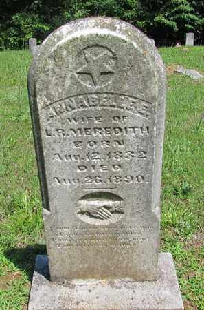 MEREDITH, ANNABELLE E. - Wayne County, Tennessee | ANNABELLE E. MEREDITH - Tennessee Gravestone Photos
