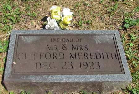 MEREDITH, INFANT DAUGHTER - Wayne County, Tennessee | INFANT DAUGHTER MEREDITH - Tennessee Gravestone Photos