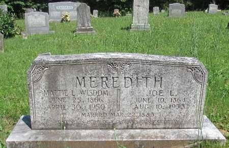 MEREDITH, JOE L. - Wayne County, Tennessee | JOE L. MEREDITH - Tennessee Gravestone Photos