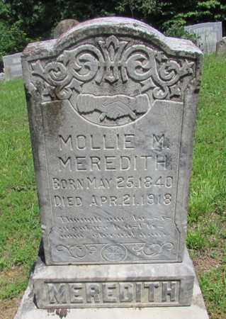 MEREDITH, MOLLIE M. - Wayne County, Tennessee | MOLLIE M. MEREDITH - Tennessee Gravestone Photos