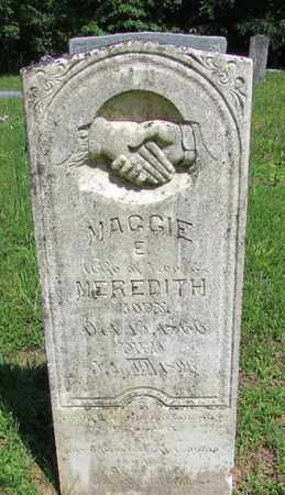 MEREDITH, MAGGIE E. - Wayne County, Tennessee | MAGGIE E. MEREDITH - Tennessee Gravestone Photos