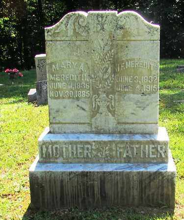 MEREDITH, MARY A. - Wayne County, Tennessee | MARY A. MEREDITH - Tennessee Gravestone Photos
