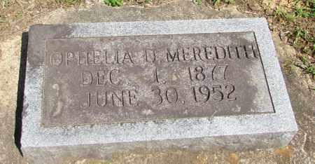 MEREDITH, OPHELIA U. - Wayne County, Tennessee   OPHELIA U. MEREDITH - Tennessee Gravestone Photos