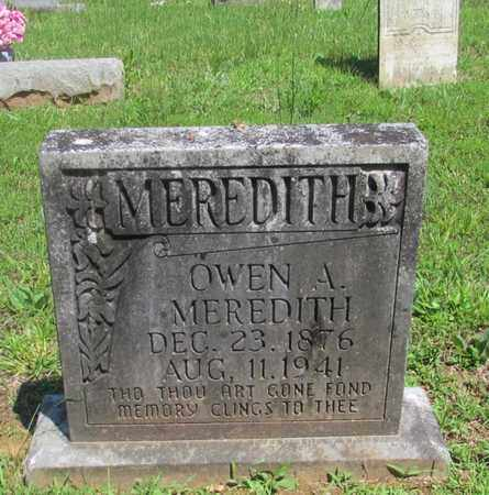MEREDITH, OWEN A. - Wayne County, Tennessee | OWEN A. MEREDITH - Tennessee Gravestone Photos