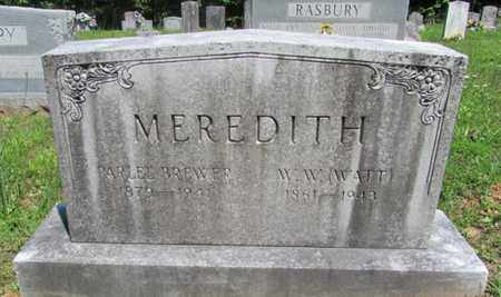 MEREDITH, WILLIAM WYATT - Wayne County, Tennessee | WILLIAM WYATT MEREDITH - Tennessee Gravestone Photos