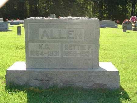 CARAWAY ALLEN, BETTIE F. - Weakley County, Tennessee | BETTIE F. CARAWAY ALLEN - Tennessee Gravestone Photos