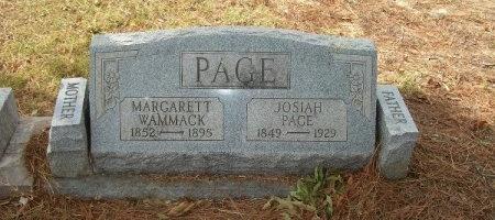 WAMMACK PAGE, MARGARETT - Weakley County, Tennessee | MARGARETT WAMMACK PAGE - Tennessee Gravestone Photos