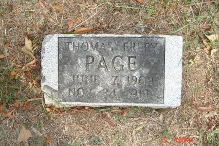 PAGE, THOMAS ERLEY - Weakley County, Tennessee | THOMAS ERLEY PAGE - Tennessee Gravestone Photos