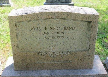 BANDY, JOHN ERNEST - White County, Tennessee | JOHN ERNEST BANDY - Tennessee Gravestone Photos