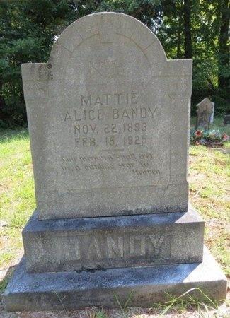 BANDY, MATTIE ALICE - White County, Tennessee | MATTIE ALICE BANDY - Tennessee Gravestone Photos