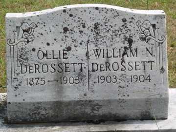 FISK DEROSSETT, OLLIE - White County, Tennessee   OLLIE FISK DEROSSETT - Tennessee Gravestone Photos