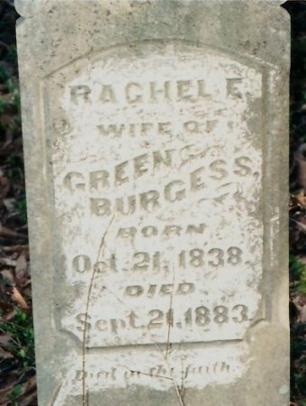 BURGESS, RACHEL ELIZABETH - Williamson County, Tennessee | RACHEL ELIZABETH BURGESS - Tennessee Gravestone Photos