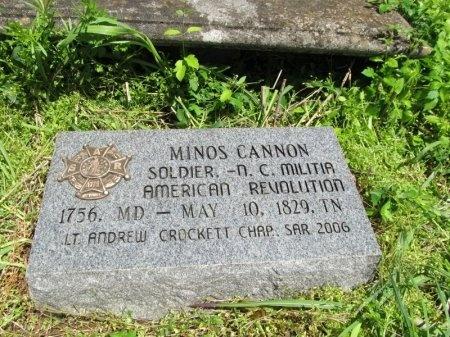 CANNON (VETERAN RW), MINOS - Williamson County, Tennessee   MINOS CANNON (VETERAN RW) - Tennessee Gravestone Photos