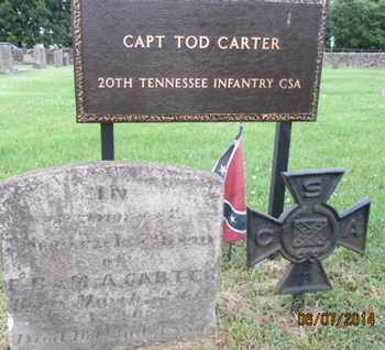 CARTER (VETERAN CSA), TOD - Williamson County, Tennessee | TOD CARTER (VETERAN CSA) - Tennessee Gravestone Photos