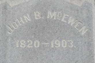 MCEWEN, JOHN B. - Williamson County, Tennessee | JOHN B. MCEWEN - Tennessee Gravestone Photos