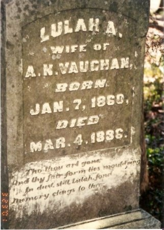VAUGHAN, LULAH A. - Williamson County, Tennessee | LULAH A. VAUGHAN - Tennessee Gravestone Photos