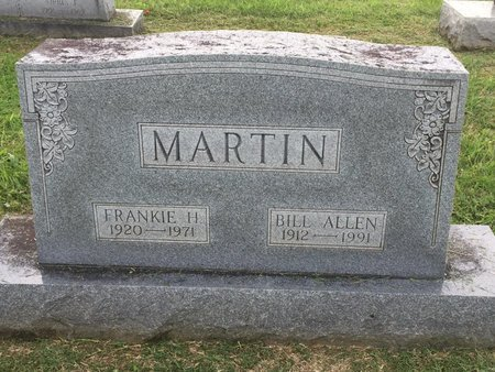 MARTIN, BILL ALLEN - Wilson County, Tennessee | BILL ALLEN MARTIN - Tennessee Gravestone Photos