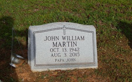 MARTIN, JOHN WILLIAM - Wilson County, Tennessee | JOHN WILLIAM MARTIN - Tennessee Gravestone Photos