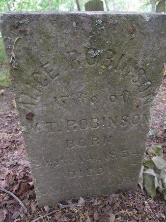 WEATHERLY ROBINSON, MARY ALICE - Wilson County, Tennessee | MARY ALICE WEATHERLY ROBINSON - Tennessee Gravestone Photos