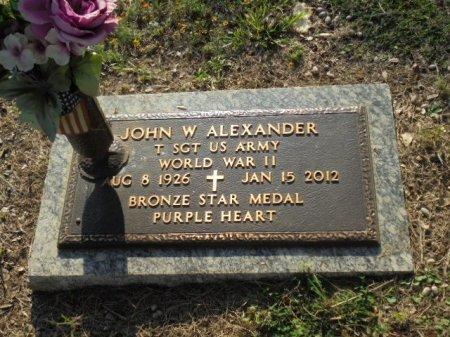 ALEXANDER (VETERAN WWII), JOHN W - Anderson County, Texas | JOHN W ALEXANDER (VETERAN WWII) - Texas Gravestone Photos