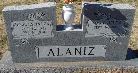 ALANIZ, JESSE ESPINOZA - Andrews County, Texas | JESSE ESPINOZA ALANIZ - Texas Gravestone Photos