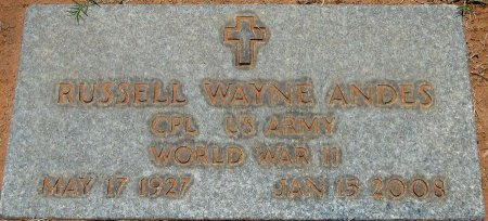 ANDES (VETERAN WWII), RUSSELL WAYNE - Andrews County, Texas   RUSSELL WAYNE ANDES (VETERAN WWII) - Texas Gravestone Photos