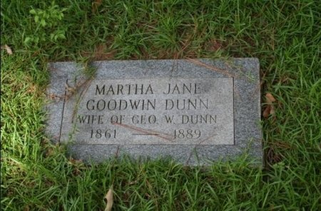 GOODWIN DUNN, MARTHA JANE - Angelina County, Texas | MARTHA JANE GOODWIN DUNN - Texas Gravestone Photos