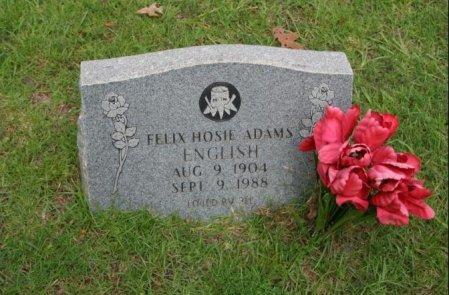 ENGLISH, FELIX HOSIE ADAMS - Angelina County, Texas | FELIX HOSIE ADAMS ENGLISH - Texas Gravestone Photos
