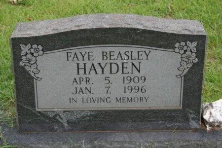 BEASLEY HAYDEN, FAYE - Angelina County, Texas | FAYE BEASLEY HAYDEN - Texas Gravestone Photos