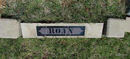 *ROAN PLOT MARKER,  - Armstrong County, Texas |  *ROAN PLOT MARKER - Texas Gravestone Photos