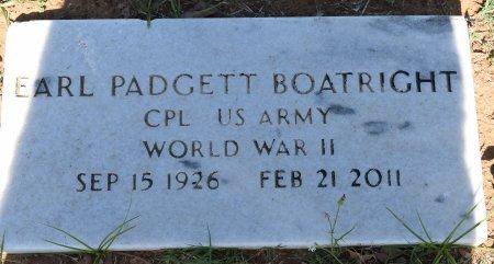 BOATRIGHT (VETERAN WWII), EARL PADGETT - Atascosa County, Texas | EARL PADGETT BOATRIGHT (VETERAN WWII) - Texas Gravestone Photos