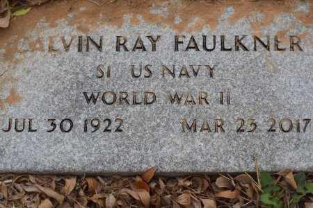 FAULKNER (VETERAN WWII), CALVIN RAY - Atascosa County, Texas | CALVIN RAY FAULKNER (VETERAN WWII) - Texas Gravestone Photos