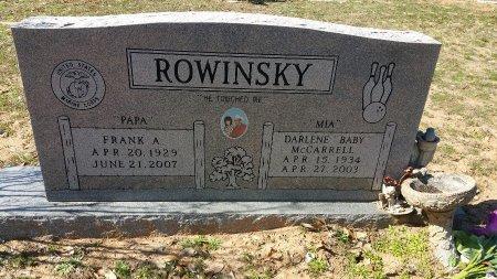 ROWINSKY, FRANK A - Atascosa County, Texas | FRANK A ROWINSKY - Texas Gravestone Photos