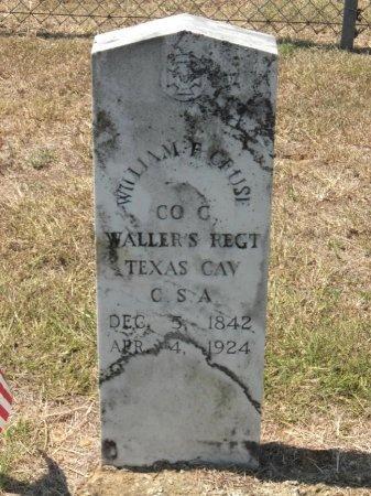 CRUSE (VETERAN CSA), WILLIAM F  - Bastrop County, Texas | WILLIAM F  CRUSE (VETERAN CSA) - Texas Gravestone Photos