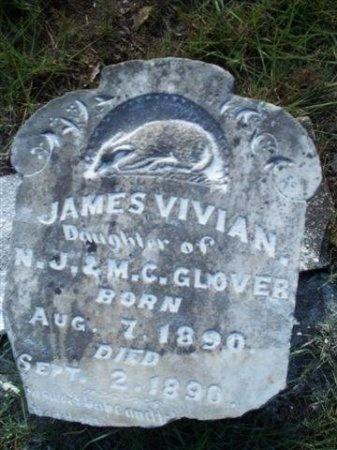 GLOVER, JAMES VIVIAN - Bastrop County, Texas | JAMES VIVIAN GLOVER - Texas Gravestone Photos