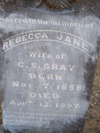 GRAY, REBECCA JANE - Bastrop County, Texas | REBECCA JANE GRAY - Texas Gravestone Photos