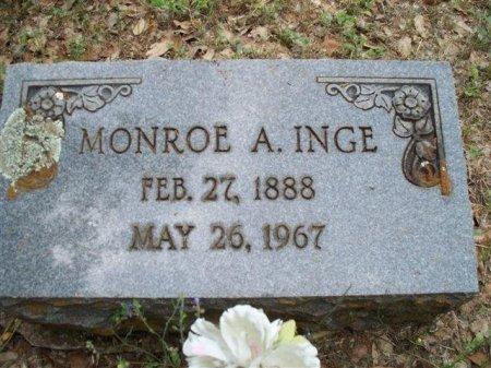 INGE, MONROE ALBERT - Bastrop County, Texas | MONROE ALBERT INGE - Texas Gravestone Photos