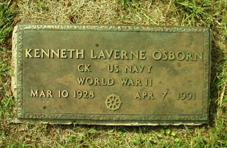OSBORN (VETERAN WWII), KENNETH LAVERNE - Bastrop County, Texas | KENNETH LAVERNE OSBORN (VETERAN WWII) - Texas Gravestone Photos