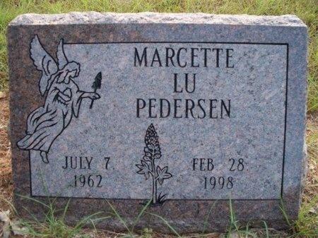 "PEDERSEN, MARCETTE LU ""MARCI"" - Bastrop County, Texas   MARCETTE LU ""MARCI"" PEDERSEN - Texas Gravestone Photos"