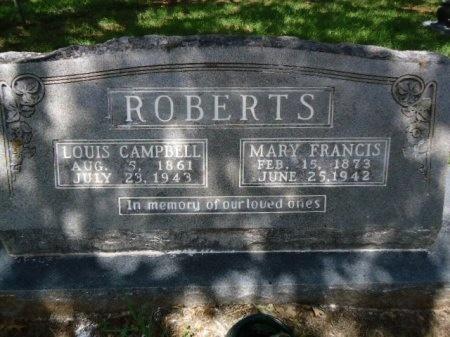 ROBERTS, LOUIS CAMPBELL - Bastrop County, Texas   LOUIS CAMPBELL ROBERTS - Texas Gravestone Photos