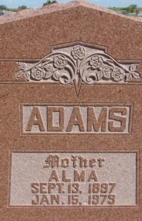 ADAMS, ALMA - Baylor County, Texas   ALMA ADAMS - Texas Gravestone Photos
